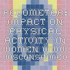 Pedometer: impact on physical activity in women www.wisconsinmedicalsociety.org
