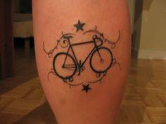 Bicycles Tattoo On Leg