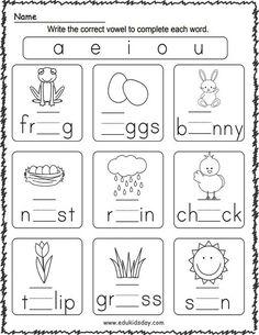 FREE Spring Printable Worksheets for Kindergarten - Edukidsday.com
