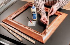 How to: DIY Build a Dentil Pattern Picture Frame with Your Table Saw - free project from Woodworker's Journal