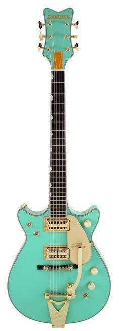 Gretsch Masterbuilt 62 Penguin Double Cutaway Custom Shop Foam Green | Rainbow Guitars Confira aqui http://mundodemusicas.com/lojas-instrumentos/ as melhores lojas online de Instrumentos Musicais.