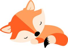 This would be perfect for my baby fox pattern I want to create. - My list of beautiful animals Forest Animals, Woodland Animals, Sleeping Fox, Fuchs Illustration, Fox Party, Fox Drawing, Fox Pattern, Cute Fox, Woodland Baby