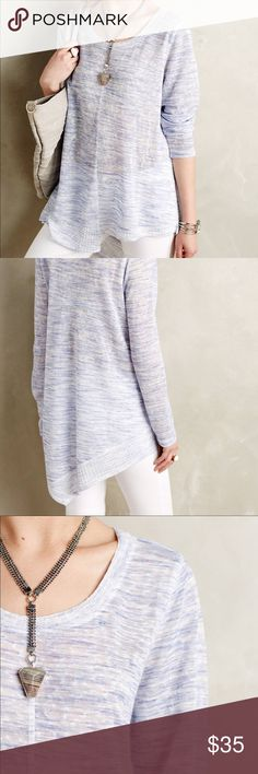 Anthropologie   NWOT Ezri Asymmetrical Tunic Beautiful light blue asymmetrical high-low tunic by Akemi + Kin. Very light material, slightly see through would recommend wearing a cami underneath. Never worn, in perfect condition. Wishing I had purchased a Size M. Anthropologie Tops Tunics