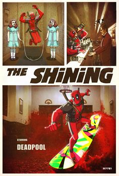 Deadpool baby. From http://goodcomics.comicbookresources.com/2012/09/20/the-line-it-is-drawn-107-comic-book-characters-mashed-up-with-stephen-king-stories/ via Mary Sue.