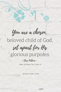 You are a chosen, beloved child of God, set apart for His glorious purposes.  Meet the New You will help you in a deeply profound way!  #coaching #transformation #biblical #christian #women Mentor Training, Christian Marriage, Christian Women, Redeeming Love, Life Coach Training, Identity In Christ, Bible Encouragement, Set Apart, Seasons Of Life