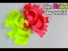 MommyCraftsAlot: How to make a bow with TWO colors (Divided bow tutorial)