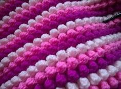 Puff or Bobble Stitch Blanket