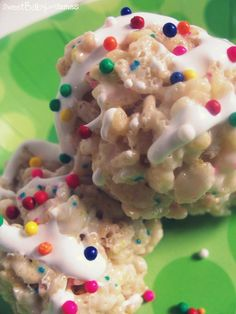 Birthday Cake Batter Rice Crispy Treats