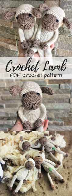 Crochet lamb PDF Amigurumi pattern. What an adorable little sheep to make for Easter or a new baby! #etsy #ad