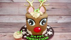 How To Make A Funky Rudolph The Red Nosed Reindeer Cake