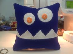 Monster tooth fairy pillow for my great nephew who is just about to loose his first tooth!