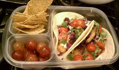 #EasyLunchBoxes - they're not just for lunch! Perfect for my fish taco dinner on the go! :)
