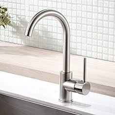 Modern Bar Sink Faucet -Gimili Bar faucet for Kitchen Sink Single Handle Hot and Cold, Brush Nickle Prep Sink Faucet Wet Bar Sink, Bar Sink Faucet, Best Faucet, Bar Faucets, Kitchen Sink Faucets, Delta Faucets, Prep Kitchen, Kitchen On A Budget, Modern Bar Sinks
