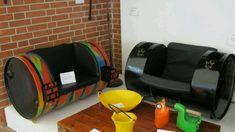 Muebles de bidones reciclados