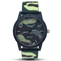 Camo Silicone Band Wrist Watch