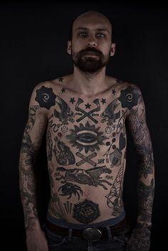 Black line tattoos