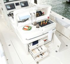 Boston Whaler Boats | 2014 Boston Whaler 320 Outrage summer kitchen optional add on