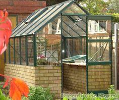 Elite 6x6 Dwarf Wall Greenhouse - Toughened Glazing http://www.greenhousestores.co.uk/Elite-6x6-Dwarf-Wall-Greenhouse-Toughened-Glazing.htm