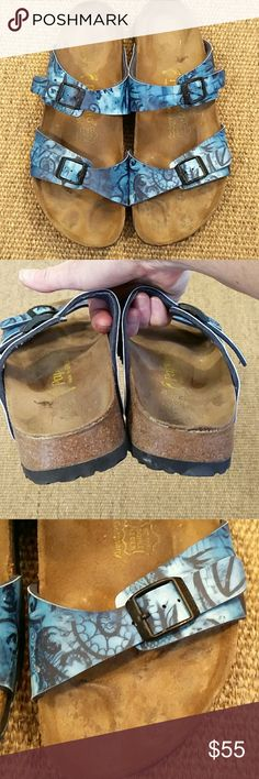 Birkenstock Papillo Blue Print, Size 41 Reposhing, not a fan of how they look on my feet. Birkenstock Shoes Sandals