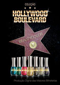 """Terapia Feminina: """"Hollywood Boulevard"""" a nova coleção de esmaltes da Beauty Color."""