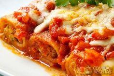 Receita de Canelone de carne moída em receitas de massas, veja essa e outras receitas aqui!