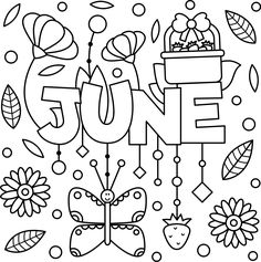 Summer Coloring Pages eBook: June | Printable Crafts For ...