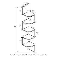 Porch & Den Munjoy Espresso Wall-mount Floating Radial Corner Shelf (N/A - french oak grey)