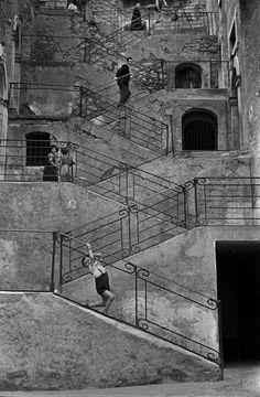Rene Burri ITALY. 1956. Sicily. Town of Leonforte.