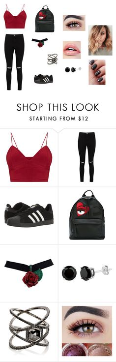 """idk"" by ktbspa-and-loveislove on Polyvore featuring moda, Boohoo, adidas, Chiara Ferragni y Eva Fehren"
