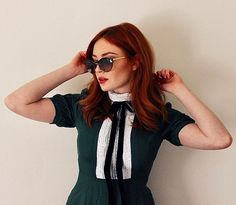 Picture of Danielle Victoria Perry Danielle Perry, Danielle Victoria, Red Hair Don't Care, Red Riding Hood, Little Red, Eye Color, Straight Hairstyles, Redheads, Round Sunglasses