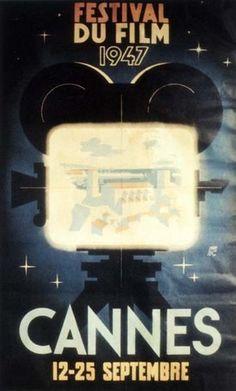 2e Festival de Cannes - Auteur de l'affiche : Jean-Luc. Palme d'Or en 1947 : Dumbo de Ben Sharpsteen