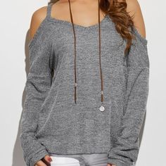 Cold Shoulder High-Low Sweater  $40.99    Specification  Color: BLACK, GRAY, WHITE  Size: S, M, L, XL  Category: Women > Sweaters & Cardigans     Type: Pullovers  Material: Polyester  Sleeve Length: Full  Collar: V-Neck  Style: Casual  Pattern Type: Solid  Season: Fall,Spring  Weight: 0.450kg  Package Contents: 1 x Sweater