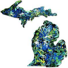 MACkite - Michigan Art Sticker, $6.00 (http://shop.mackite.com/michigan-art-sticker/)