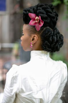 American and African Hair Braiding : Munaluchi Bridal Shoot Features Stunning Natural Updo African Hairstyles, Afro Hairstyles, Black Women Hairstyles, Wedding Hairstyles, Simple Hairstyles, Medium Hairstyles, Short Haircuts, Natural Updo, Be Natural
