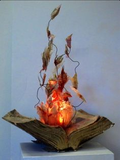 Medieval Warmth with Book Candelabra
