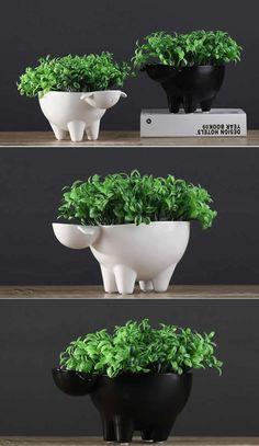 Ceramic Sheep Flower Pot