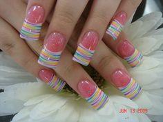 Easter nails done Crazy Nail Art, Cute Nail Art, Cute Acrylic Nails, Cute Nails, Pretty Nails, Fingernail Designs, Cute Nail Designs, Acrylic Nail Designs, Sexy Nails