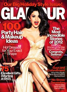 Selena Gomez on Glamour December 2012