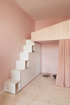 Another detail of our latest kids' room project called 'pink palace