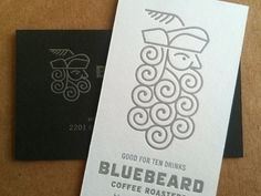 Bluebeard coffee roaster identity