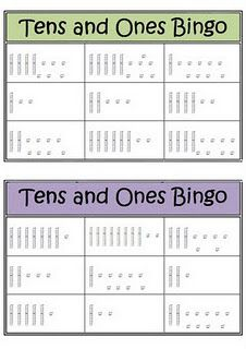 Tens and Ones Bingo can be played as an activity for students learning about base ten. The teacher says a number, and it is up to the students to identify the number on the bingo card. Math Place Value, Place Values, Math Stations, Math Centers, Math Resources, Math Activities, Tens And Ones, Math School, Maila