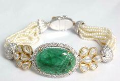 Carved Emerald Bracelet