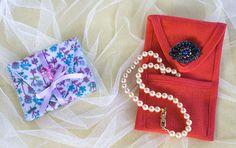 porta joias em tecido