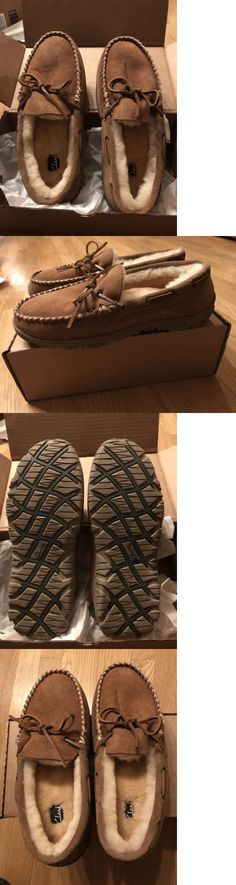 Slippers 11505: New W Tags Clarks Men S Size 11 Indoor Outdoor Slippers Genuine Shearling -> BUY IT NOW ONLY: $49.95 on eBay!