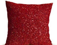 Red sequin throw pillow, New Years pillow, Confetti decorative pillows, Red sequin beads cushion, Her Gift Red Throw Pillows, Throw Pillow Cases, Lumbar Pillow, Accent Pillows, Pillow Covers, Designer Pillow, Designer Throw Pillows, Pillow Design, Pottery Barn