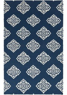 Chinois Medallion Navy Blue Rug - top navy blue and white rugs