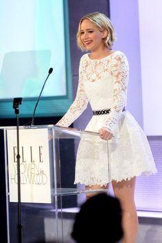 Jennifer Lawrence Photos - ELLE's 21st Annual Women In Hollywood Celebration - Roaming Inside - Zimbio