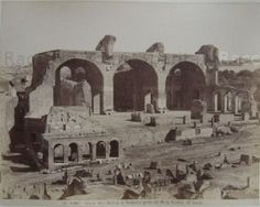 Area of ​​the Basilica of Maxentius See other pictures of vanished Rome