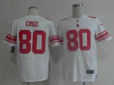 1360f910e Nike Giants 80 Victor Cruz White Team Color Men s Embroidered NFL Elite  Jersey