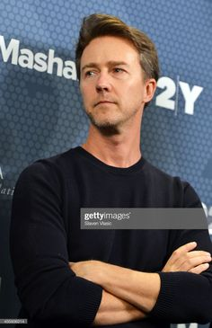 Actor Edward Norton attends the 2014 Social Good Summit at on. Edward Norton, Indie Movies, Old Movies, Ben Stiller, Film Blade Runner, Old Movie Posters, French Films, Fight Club, Film Quotes